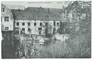 De vijver van de abdij ter Kameren in Elsene
