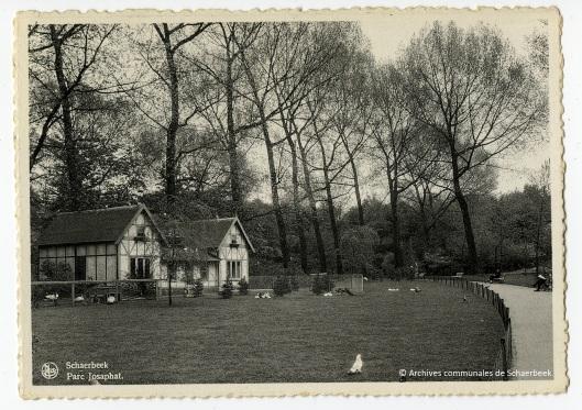 De vogelhuis in het Josaphatpark in Schaarbeek (circa 1950)