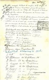 pétition pour la suppression de l'urinoir situé avenue Ducpétiaux (1926) | Petitie voor het afbreken van het openbaar urinoir, Ducpétiauxlaan (1926)