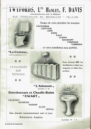 Publicité pour des installations sanitaires (1913) | Reclame voor sanitaire installaties (1913)