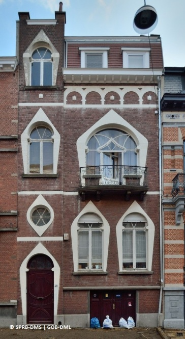 Maison rue Émile Banning n°48 (Ixelles,) architecte: William Jelley | Huis Émile Banningstraat nr. 48 (Elsene), architect: William Jelley - photo : © Monuments & Sites – Bruxelles