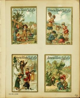Vignettes commerciales pour enfants, fin XIXe-début XXe siècle, Album II-35-9, Archives de la la Ville de Bruxelles | Commerciële stickers voor kinderen, en 19ste-begin 20ste eeuw), Albul II-35-9, Archief van de Stad Brussel